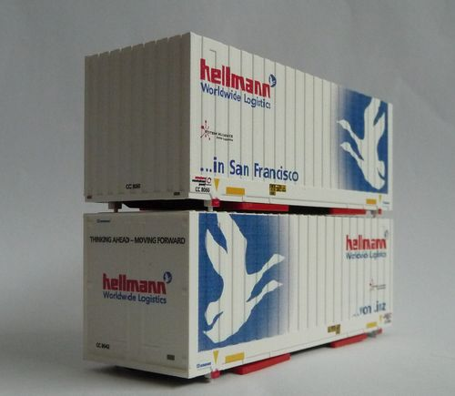 "2er Set WB Cargobox, ""Hellmann"" Linz / San Francisco"